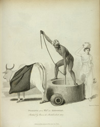 Peasants at a well in Hindostan. Sketched by Baron de Montalembert, 1807